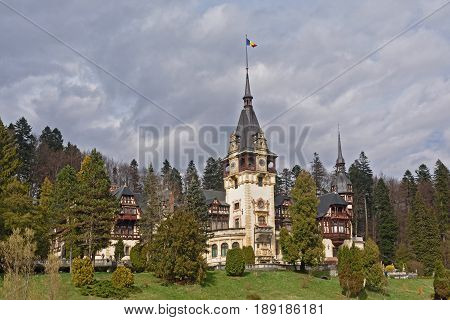 The Peles Castle in Sinaia  of Romania
