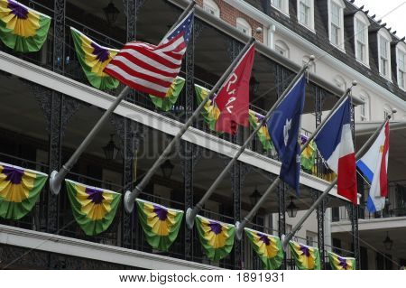 Flags In The French Quarters
