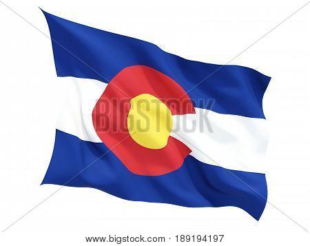 Flag Of Colorado, Us State Fluttering Flag