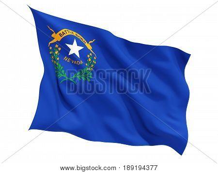Flag Of Nevada, Us State Fluttering Flag