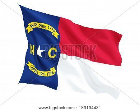 Flag Of North Carolina, Us State Fluttering Flag