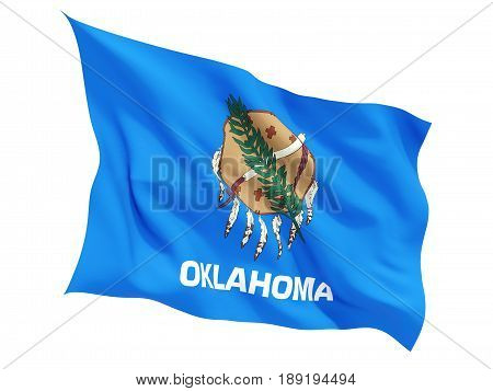 Flag Of Oklahoma, Us State Fluttering Flag