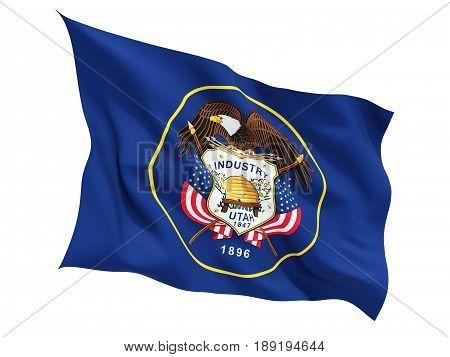 Flag Of Utah, Us State Fluttering Flag
