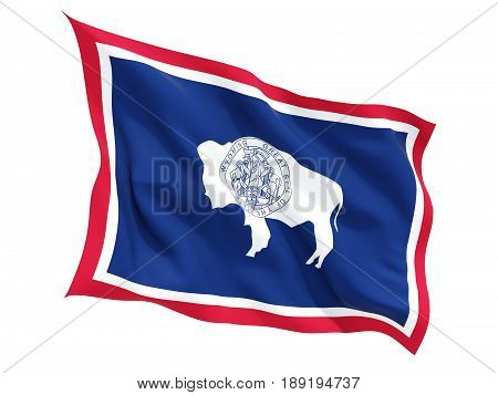 Flag Of Wyoming, Us State Fluttering Flag