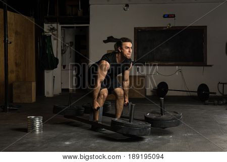 Strong Man Lifting Some Weights