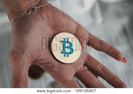 Gold Bitcoin On Hand