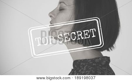 Top Secret Confidential Word Stamp Graphic