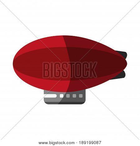 zeppelin balloon icon image vector illustration design