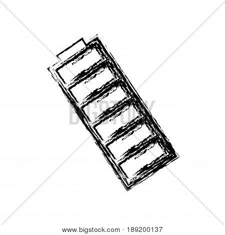 battery icon over white background. vector illustration