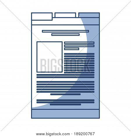 shadow blue web tab cartoon vector graphic design