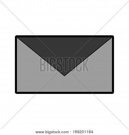 closed grey envelope cartoon vector grpahic design