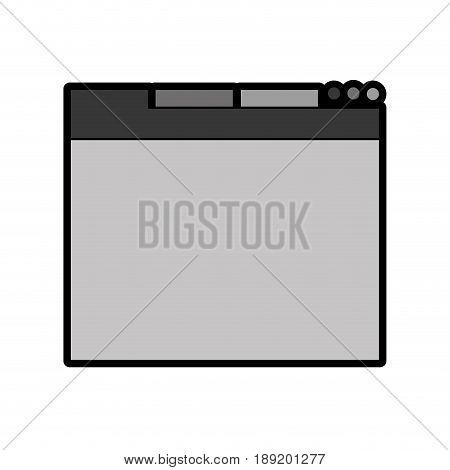 cute grey web tab cartoon vector graphic design