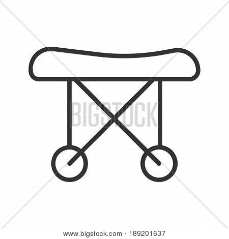 Medical stretchers linear icon. Thin line illustration. Vector isolated outline drawing