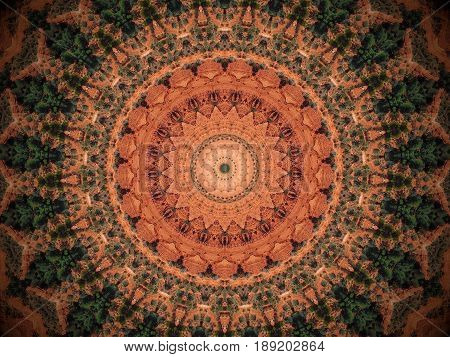 Abstract Photo Mandala