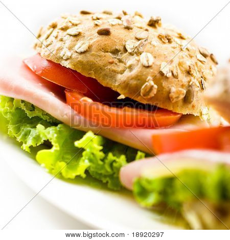 Close up of a healthy sandwich