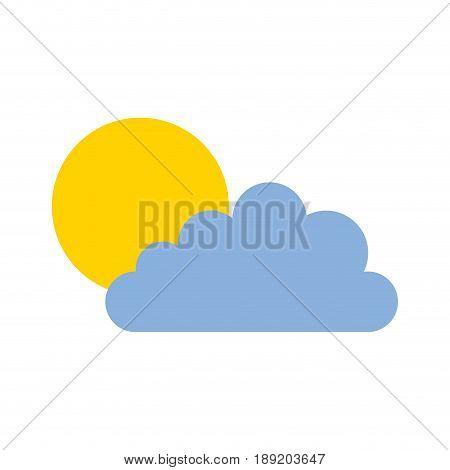 cute sun and cloud icon cartoon vector graphic design