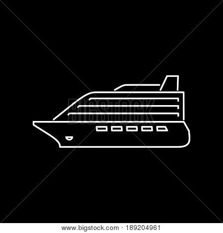 Cruise Liner Icon Simple Flat Vector Illustration