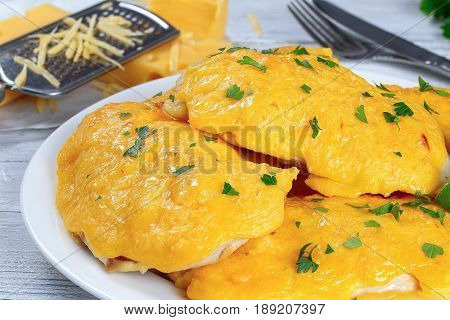 Delicious Chicken Breast With Cheese Topping