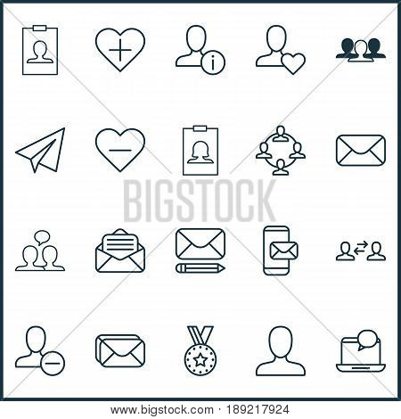 Communication Icons Set. Collection Of Startup, Remove User, Team Organisation And Other Elements. Also Includes Symbols Such As Favorites, Reward, Remove.