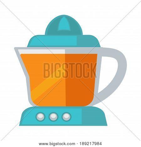 Vector illustration of blue juicer for citrus on the white background.