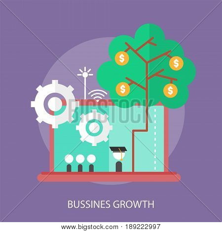 Bussines Growth Conceptual Design | Set of great flat design illustration concepts for business, finance, marketing and much more.