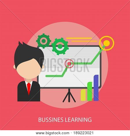 Bussines Learning Conceptual Design | Set of great flat design illustration concepts for business, finance, marketing and much more.