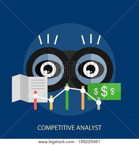 Competitive Analyst Conceptual Design | Set of great flat design illustration concepts for business, finance, marketing and much more.