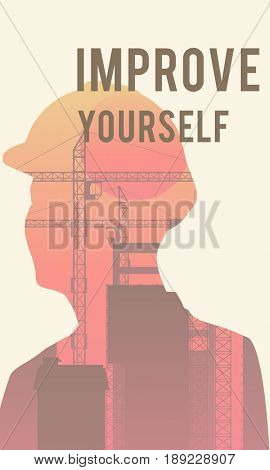 Work Improve Yourself Graphic