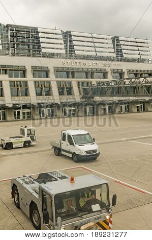 Stuttgart Germany - October 26 2016. The International airport of Stuttgart Manfred Rommel. Stuttgart Germany. It is the seventh airport in importance in Germany.