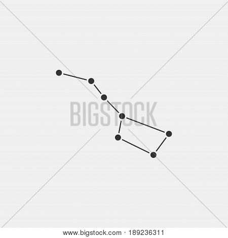 Big Dipper constellation icon isolated on gray background. Ursa Major icon Vector Illustration