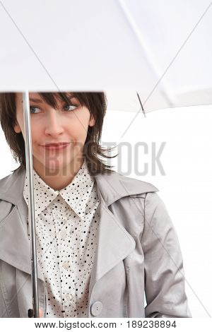 Dissapointed Girl And Umbrella