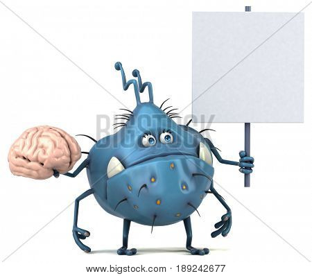 Fun germ - 3D Illustration