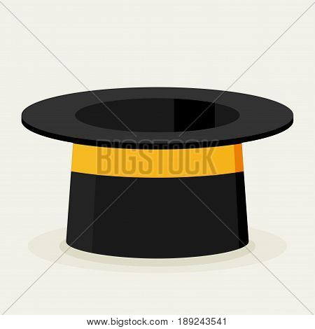 Cylinder gentleman hat. Vector colorful flat illustration.
