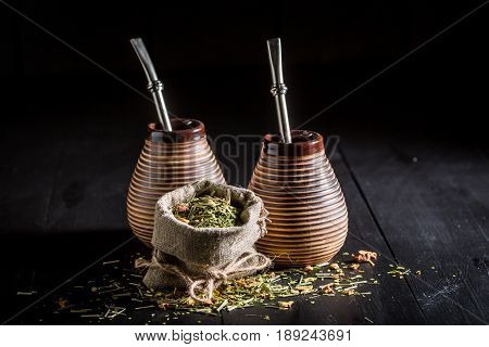 Full Of Flavor Yerba Mate With Calabash And Bombilla
