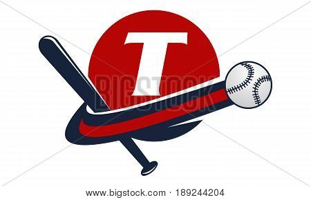 This image describe about Base Ball Letter T
