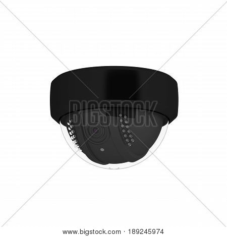 Security Camera Isolated On White Background 3D Illustration