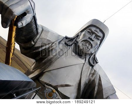 Huge statue of Mongolian emperor Chinggis Khan