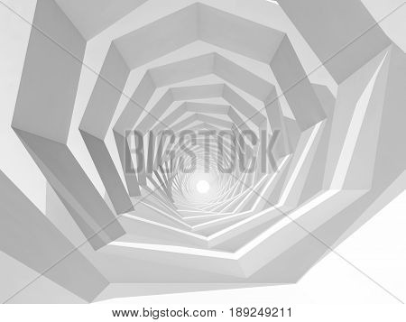 Abstract Hypnotic Cg Background, 3D Tunnel