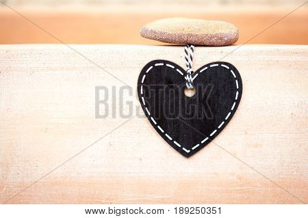 Heart Chalk Blackboard (blank) - terracotta planter