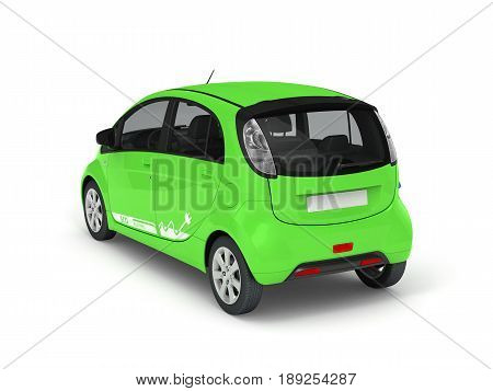 Electric Car isolated on white 3D illustration