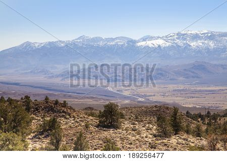 A view of the Sierra Nevada landscape in California