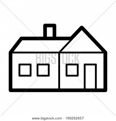 House simple vector icon. Black and white illustration of real estate. Outline linear apartments icon. eps 10