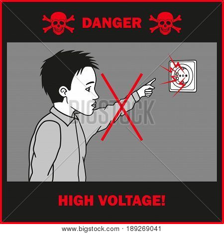 Household electrical current is dangerous for children.