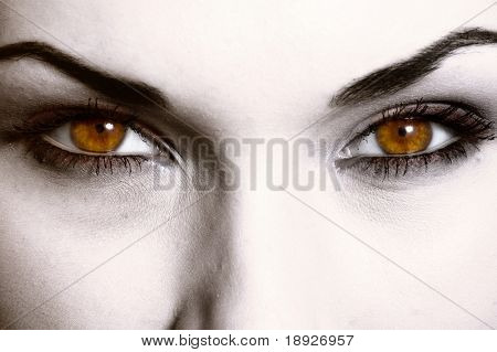 Close up of evil look