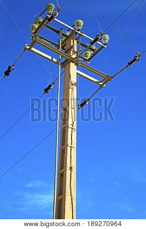 Utility Pole In Africa  Distribution Pylon