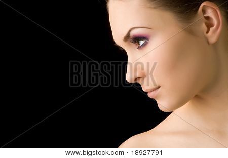 Young beautiful woman's portrait