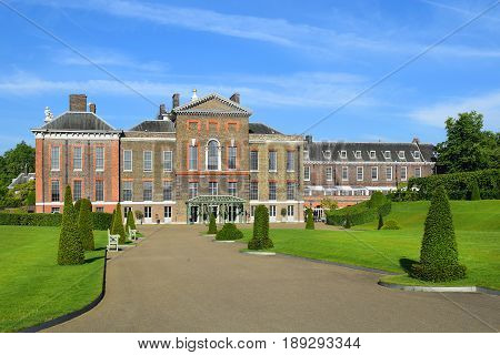 LONDON,ENGLAND - May 24,2017: Kensington Palace, official residence of the Duke and Duchess of Gloucester in Kensington Gardens, London