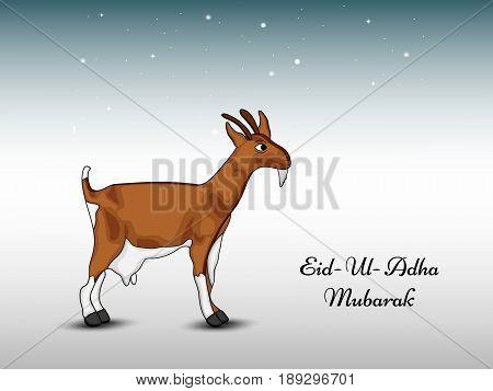 illustration of goat with Eid Ul Adha Mubarak text