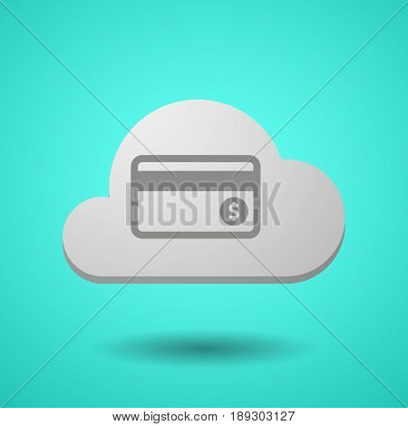 Vectorial Cloud With  A Credit Card