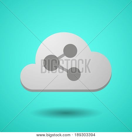 Vectorial Cloud With  A Network Sign